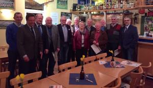 Ehrung langjähriger Mitglieder während der Mitgliederversammlung.